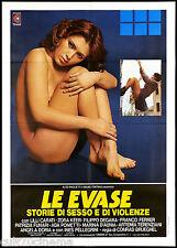 LE EVASE MANIFESTO CINEMA LILLI CARATI 1978 ESCAPE FROM WOMEN'S PRISON POSTER 2F