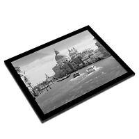 A3 Glass Frame BW - Grand Canal Basilica Santa Maria  #42977