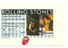 RARE / TICKET CONCERT - THE ROLLING STONES + 1ère PARTIE : TELEPHONE PARIS 1982