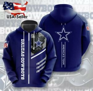 Dallas Cowboys Long Sleeve Pullover Hoodies NFL Jersey Shirt Windbreaker