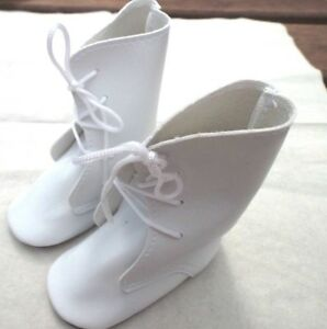 Victorian Style doll boots in White 2 sizes available  60 mm and 80 mm