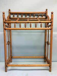 "Stick and Ball Oak Cane Stand 29.5"" Tall"