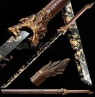 Chinese KungFu Wolf Dao Sword Katana Sharp High Manganese Steel Tang Saber Knife