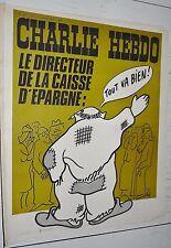 CHARLIE HEBDO N°205 21/10 1974 WOLINSKI CAVANNA CHORON REISER GEBE WILLEM CABU