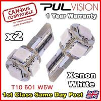 2 x ERROR FREE CANBUS 5 SMD LED XENON HID WHITE W5W T10 501 SIDE LIGHT BULBS UK