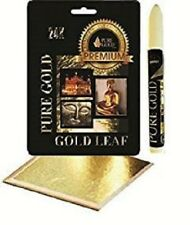 Adhesive size leafing Pen kit with 100 gold Leaf Sheets arts craft lettering