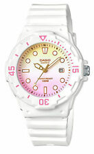 Casio LRW200H-4E2V, Women's Analog White Resin Band, Date. 100 Meter WR