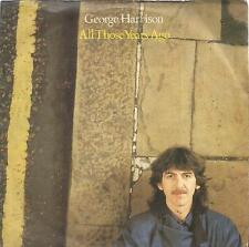 disco 45 GIRI George HARRISON ALL THOSE YEARS AGO - WRITING'S ON THE WALL