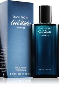 DAVIDOFF COOL WATER INTENSE FOR MEN EAU DE PARFUM 75ml - BRAND NEW (UNSEALED)