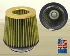 "4"" Gold Mesh Cold Air Oil Free Washable Filter for Ford GT Cobra Mustang V6 V8"