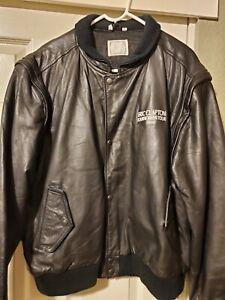 """ERIC CLAPTON """" Journeyman """" 1990 Roadie Crew Tour Jacket Guotar great Rare XL"""