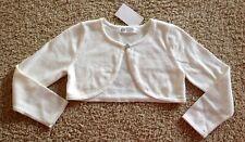 H&M Girl Dress Cardigan Size 4-6 Yrs 110 / 116 Ivory White NEW