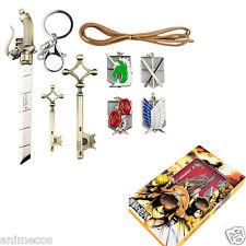 Attack on Titan Shingeki no Kyojin Badge Blade swords Necklace Pendant 7pcs set