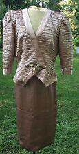 Karen Lawrence by Matthew SIZE 10 Tan Career Formal 2pc Skirt Suit