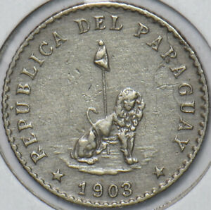 Paraguay 1903 10 Centavos Lion animal 296550 combine shipping