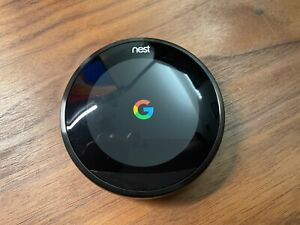 Nest Programmable Thermostat 3rd Generation (A0013) - Black (Includes Base)