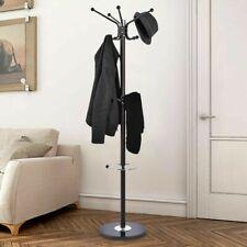"""Metal Coat Hat Jacket Stand Tree Umbrella Holder Hanger Rack Marble Base 70"""""""
