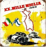 Mille Miglia Arrugginiti Insegna Acciaio 300mm x 300mm ( Pst 1212)
