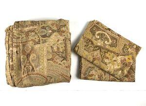 RALPH LAUREN Queen Size Duvet Cover & 2 Standard Pillow Shams Set Brown Paisley