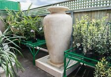 GRC Outdoor Garden Patio Water Feature Large Carolina Fountain Urn Sandstone