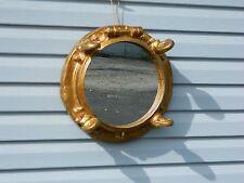 "Gold Resin Porthole Mirror 17"" Diameter  Home Decor"