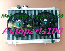For Toyota Supra Radiator+Fans Soarer MK3 7M-GTE 1986-1992 3000CC MZ20 52mm MT