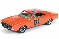 Auto World 1:18 Scale 1969 Dodge Charger General Lee Diecast AMM964