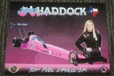 "2015 Jenna Haddock Boots For Troops ""Pink"" Top Fuel NHRA postcard"