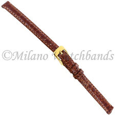 8mm Di Modell Tan Pavo Royale Royal Turkey Stitched Ladies Watch Band
