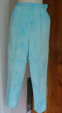 Vintage 60s White Stag USA Aqua Tie Dyed Side Zip High Waist Pants Pockets
