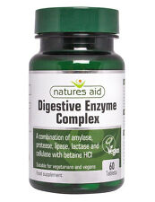 Natures Aid Digestive Enzyme Complex 60 Tablets - with Betaine HCl & Lactase