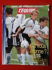 1998 l'equipe magazine n°847 LA COUPE DU MONDE 98 FRANCE ALLEMAGNE HOLLANDE