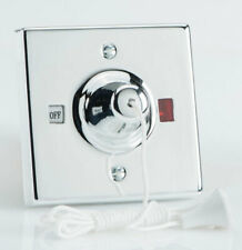Neon Chrome Effect Shower Ceiling Pull Cord Switch - 45 Amp 45A - Varilight NEW