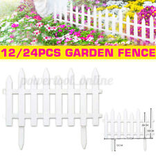 12PC Plastic Fence Courtyard Indoor Garden Edging Border Panel Flower Yard Decor