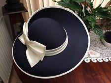 Hat Box - Blue Hat -  for Weddings or Formal Occasions.