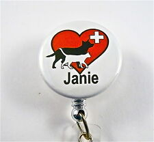 VET TECH, VETERINARY,LAB, ID BADGE RETRACTABLE REEL NURSE,PET CLINIC,SURGEON,RN