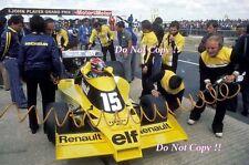 Jean-Pierre JABOUILLE RENAULT RS01 BRITISH GRAND PRIX 1977 FOTO 2