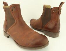 Olukai Kualona Brown Leather Elastic Gore Chelsea Pull-On Ankle Boots Women US 6