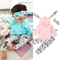 Toddler Baby Kid Girl Infant Clothes Hooded Tops Pants Toddler Outfits Tracksuit