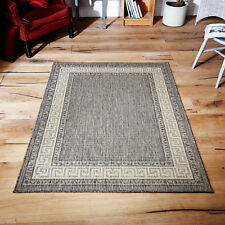 Oriental Weavers Greek Flatweave Rug Runner Modern Anti Slip 100 Polypropylene Grey 120 X 160 Cm