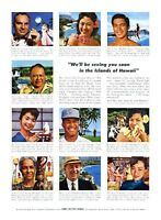 "1961 Hawaii Visitors Bureau ""Has Statehood Changed Hawaii?"" PRINT AD"