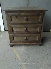 FURNITURE WAREHOUSE CLEARANCE VIENNA EXTRA LARGE BEDSIDE CHEST DARK OAK WAX
