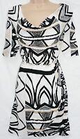 BNWT NEXT NEW ladies black White ecru Jersey Cowl neck cut out tunic Top sizes