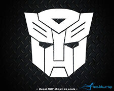 Transformers Autobot Car Decal / Laptop Sticker - WHITE 3.5""