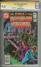SAGA OF THE SWAMP THING #5 SS CGC 9.8 AUTO THOMAS YEATES