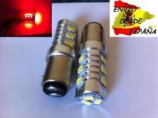 2X BOMBILLAS 12 LED 5630 BAY15D 1157 ROJO LUZ FRENO CALIDAD RECOMENDADO