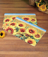 One Accent Sunflower Cushion Mat Bright Colorful Kitchen Rug Country Decor