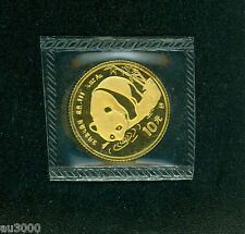 1987-S 10Y 10-Yn 10 Yuan SEALED 1/10 OZ. PANDA GOLD COIN CHINA !