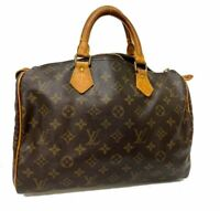 Auth LOUIS VUITTON Monogram Speedy 30 Hand Bag M41526 LV A-1443