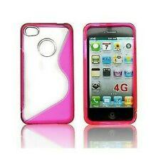 Housse Silicone Coque Etui IPHONE 4 4S Rose Design Pink